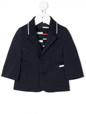 Однобортный пиджак BOSS Kidswear. Цвет: синий