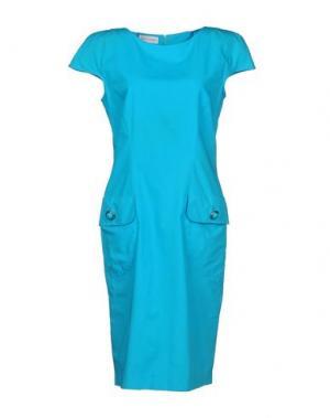 Платье до колена FIORELLA RUBINO. Цвет: бирюзовый