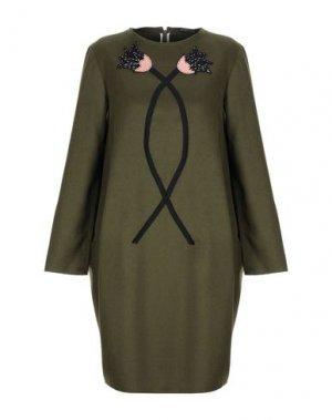 Короткое платье ANDREA TURCHI. Цвет: зеленый-милитари
