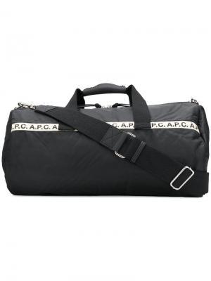 Дорожная сумка с логотипом A.P.C.. Цвет: черный