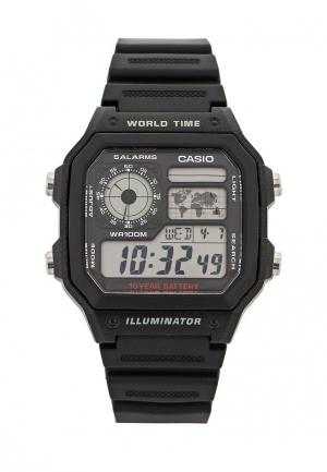 Часы Casio Collection AE-1200WH-1A. Цвет: черный
