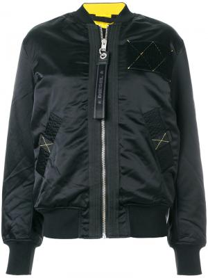 Куртка-бомбер G-West-FL Diesel. Цвет: чёрный
