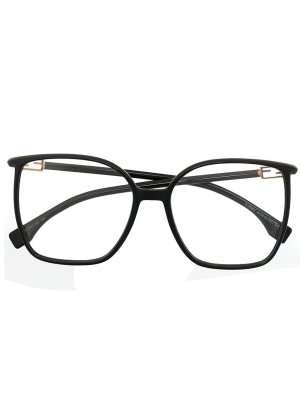 Очки в прямоугольной оправе Fendi Eyewear. Цвет: черный