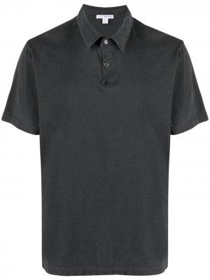 Рубашка поло из джерси James Perse. Цвет: серый