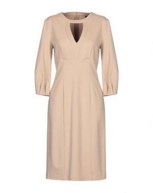 Платье до колена 1-ONE. Цвет: песочный