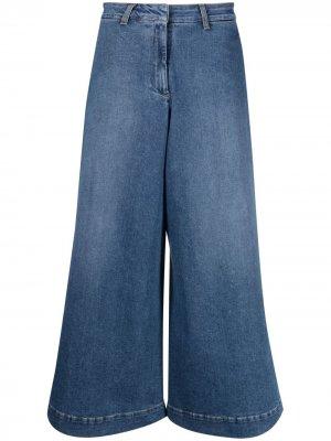 LAutre Chose укороченные джинсы широкого кроя L'Autre. Цвет: синий