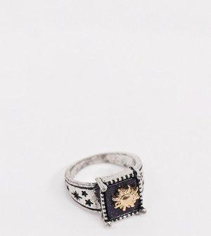 Серебристое кольцо с отделкой в виде солнца inspired-Серебряный Reclaimed Vintage