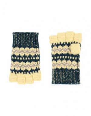 Перчатки BURBERRY. Цвет: темно-зеленый