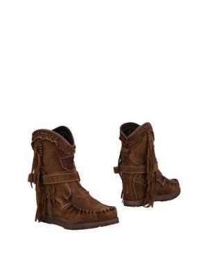 Полусапоги и высокие ботинки EL VAQUERO. Цвет: хаки