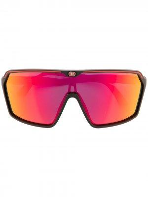 Солнцезащитные очки Spinshield в широкой оправе Rudy Project. Цвет: черный
