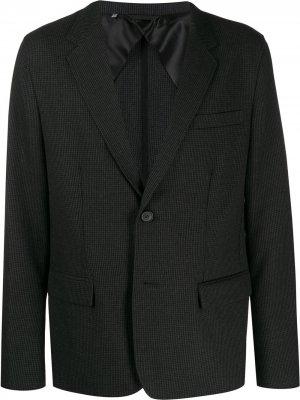 Однобортный пиджак в клетку LANVIN. Цвет: серый
