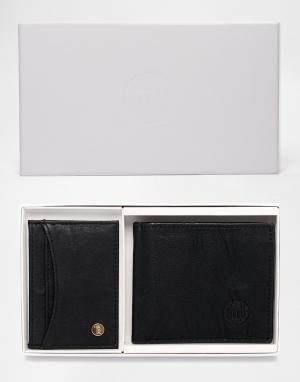 Подарочный набор с кошельком и визитницей Mi-Pac. Цвет: черный