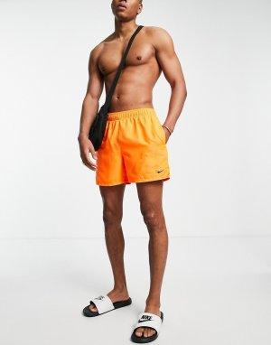 Оранжевые волейбольные шорты длиной 5 дюймов Swimming Essential-Оранжевый цвет Nike