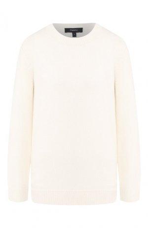 Кашемировый пуловер Theory. Цвет: белый