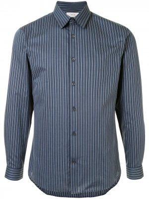 Полосатая рубашка узкого кроя Cerruti 1881. Цвет: синий