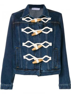 Джинсовая куртка с застежками моржовый клык JW Anderson. Цвет: синий