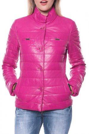 Кожаная куртка GIORGIO DI MARE. Цвет: fuschia