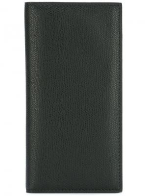 Длинный бумажник Valextra. Цвет: черный