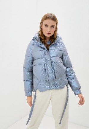 Куртка утепленная Marcella. Цвет: голубой
