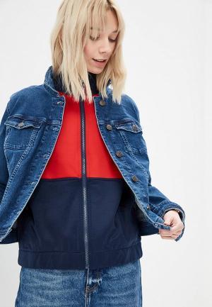 Куртка джинсовая Tommy Jeans. Цвет: синий