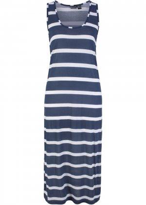 Пляжное платье макси bonprix. Цвет: синий