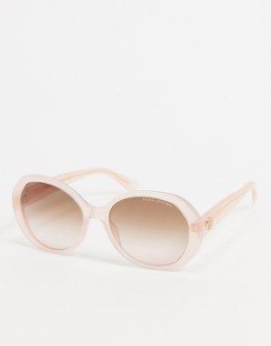 Cолнцезащитные очки в овальной оправе розового пастельного цвета -Розовый цвет Marc Jacobs