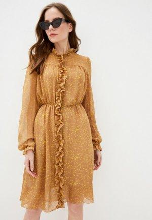 Платье Ketroy. Цвет: бежевый