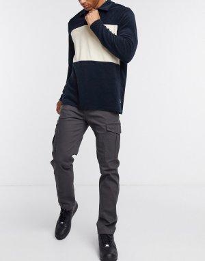 Серые брюки карго классического кроя -Серый Jack & Jones
