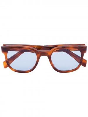 Солнцезащитные очки черепаховой расцветки Kirk Originals. Цвет: коричневый