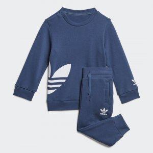 Комплект: джемпер и брюки Trefoil Originals adidas. Цвет: белый