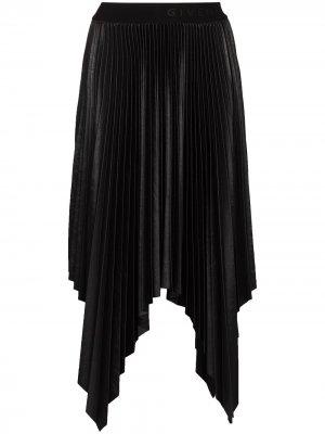 Юбка миди асимметричного кроя Givenchy. Цвет: черный
