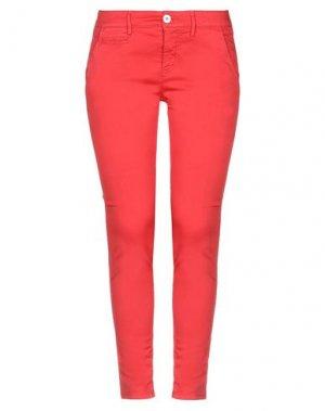 Повседневные брюки MAISON CLOCHARD. Цвет: красный
