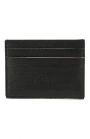 Кожаный футляр для кредитных карт Brioni. Цвет: чёрный