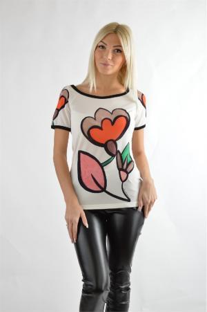 Блуза Angelo Marani. Цвет: разноцветный