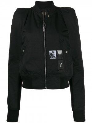 Куртка-бомбер Flight Rick Owens DRKSHDW. Цвет: черный