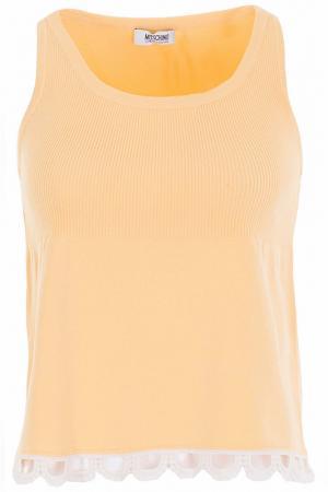 Майка Moschino Cheap & Chic. Цвет: желтый