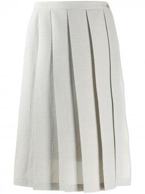 Плиссированная юбка миди Chalayan. Цвет: серый