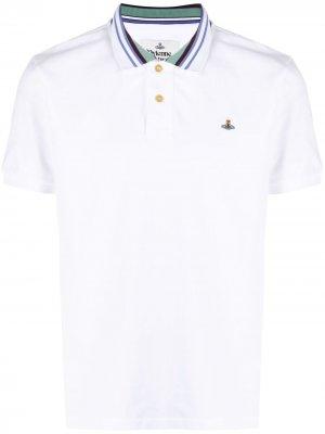 Рубашка поло с вышивкой Orb Vivienne Westwood. Цвет: белый