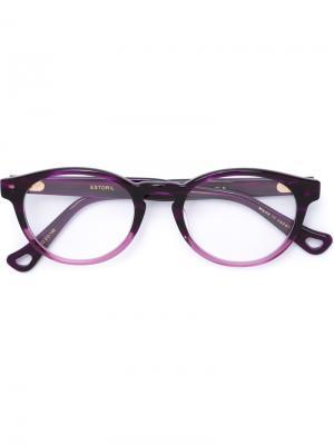 Очки в овальной оправе Dita Eyewear. Цвет: розовый и фиолетовый