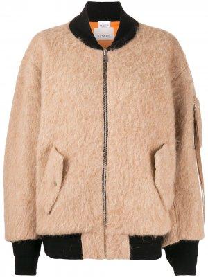 Фактурная куртка-бомбер Laneus. Цвет: нейтральные цвета