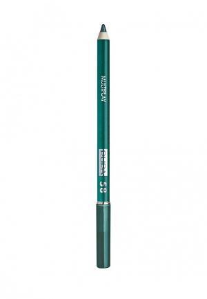 Карандаш для глаз Pupa с аппликатором Multiplay Eye Pencil, 58 пластичный зеленый. Цвет: зеленый