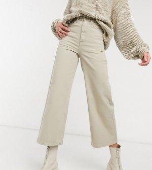 Бежевые выбеленные джинсы с широкими штанинами Aiko-Бежевый Dr Denim Tall