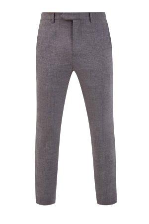 Классические шерстяные брюки с поясом split ELEVENTY. Цвет: серый