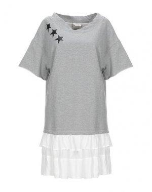 Короткое платье GUARDAROBA by ANIYE. Цвет: светло-серый