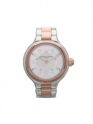Наручные часы Horological Smartwatch Delight Notify 34 мм Frédérique Constant. Цвет: серебристый color dial with guilloché decoration and mother of pearl