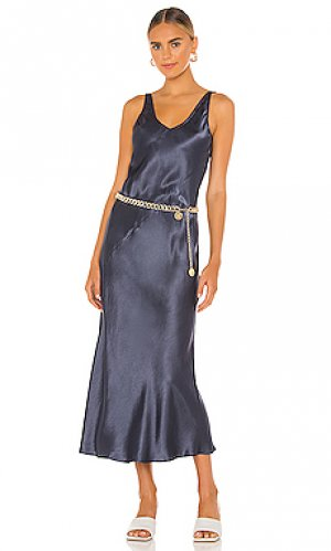 Платье миди josephine Line & Dot. Цвет: серый