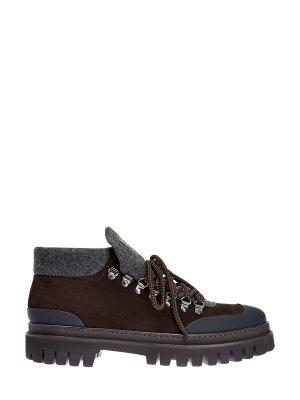 Горнолыжные ботинки с водонепроницаемой отделкой BARRETT. Цвет: коричневый