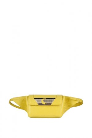 Поясная сумка Carlo Salvatelli. Цвет: желтый