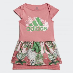 Платье Flower Print Performance adidas. Цвет: розовый