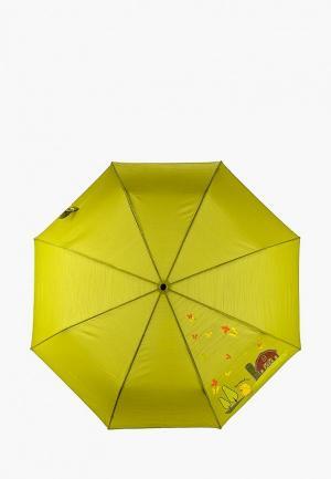 Зонт складной Braccialini. Цвет: зеленый
